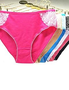 abordables Listo en 24 Horas-Mujer Short y Slip de Chico Bordado Baja cintura