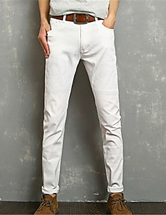 billige Herrebukser og -shorts-Herre Grunnleggende Jeans Bukser Ensfarget