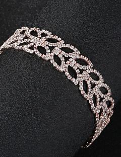 Χαμηλού Κόστους Φορέματα και αξεσουάρ για το χορό αποφοίτησης-Γυναικεία Βραχιόλια με Αλυσίδα & Κούμπωμα - Leaf Shape Ευρωπαϊκό, Μοντέρνα Βραχιόλια Χρυσό Για Γάμου / Καθημερινά