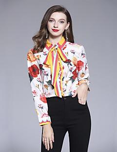 billige Dametopper-Skjorte Dame - Geometrisk, Trykt mønster Grunnleggende