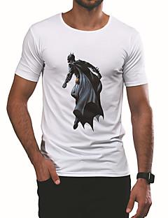 billige Herremote og klær-T-skjorte Herre - Portrett, Trykt mønster Aktiv / Grunnleggende