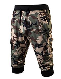 billige Herrebukser og -shorts-Herre Bomull Chinos / Joggebukser Bukser Kamuflasje
