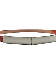 billige Trendy belter-Dame Kontor / Grunnleggende Smalt belte Ensfarget