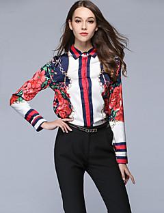 billige Dametopper-Skjorte Dame - Blomstret, Trykt mønster Aktiv / Gatemote