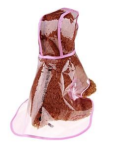 billiga Hundkläder-Hund / Katt / Husdjur Regnjacka Hundkläder Enfärgad / Enkel Transperant PUR (Polyuretan) Kostym För husdjur Dam Sport och utomhus /