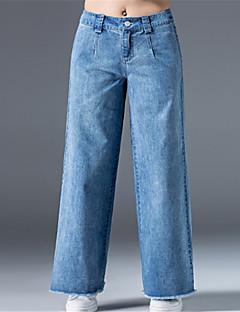 お買い得  ワイドレッグ-女性用 ベーシック ワイドレッグ パンツ ソリッド