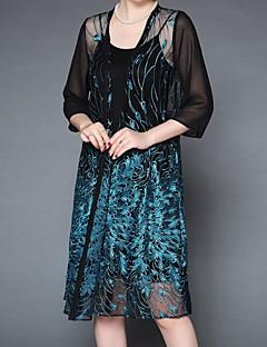 ieftine Îmbrăcăminte Exterior-Pentru femei Pelerină / Capes Vintage - Print Floral