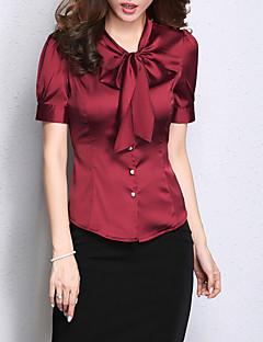 billige Skjorte-V-hals Dame - Ensfarvet Skjorte