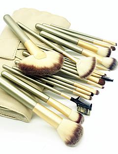 baratos -18pçs Pincéis de maquiagem Profissional Conjuntos de pincel Escova de Fibra Artificial / Escova de Nailom Amiga-do-Ambiente / Profissional / Macio De madeira / bambu