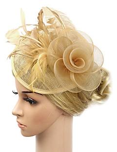 billige Trendy hårsmykker-Dame Vintage / Elegant Kubisk Zirkonium Hårbånd / Hårklemme / fascinator - Blomst, Ensfarget Tøy / Bryllup / Alle årstider