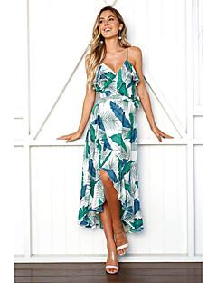 baratos Vestidos de Festa-Mulheres Bainha Vestido Decote V Médio