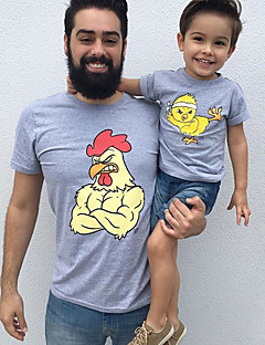 billige Sett med familieklær-Voksen Pappa og meg Dyr Kortermet T-skjorte