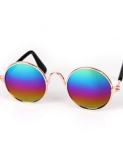 billiga Hundkläder-Hund / Kaniner / Katt Solglasögon Hundkläder Paljett Blå / Rosa / Regnbåge Blandat Material Kostym För husdjur Sport och utomhus / Djur