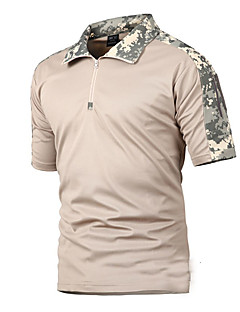tanie Koszulki turystyczne-Męskie T-shirt turystyczny Na wolnym powietrzu Lato Szybkie wysychanie, Oddychalność, Zdatny do noszenia T-shirt Nie dotyczy Kemping i turystyka, Ćwiczenia na zewnątrz, Multisport Czarny Ziele