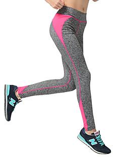 billige Løbetøj-Dame Patchwork Yoga bukser - Gul, Rose Rød, Himmelblå Sport Farveblok Bukser Pilates, Træning & Fitness, Løb Plusstørrelser Sportstøj Åndbart, Hurtigtørrende, Power flex Høj Elasticitet