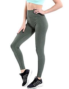 baratos Leggings para Mulheres-Mulheres Diário Esportivo Legging - Sólido Cintura Alta