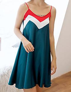 baratos Pijamas Femininos-Mulheres Com Capuz Chemise & Camisola / Conjunto Pijamas Sólido