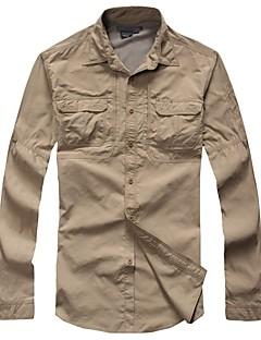 tanie Koszule turystyczne-Męskie Koszula turystyczna Na wolnym powietrzu Jesień / Wiosna Szybkie wysychanie, Oddychalność, Zdatny do noszenia Koszula / Top Niewidoczny Kemping i turystyka, Ćwiczenia na zewnątrz, Multisport