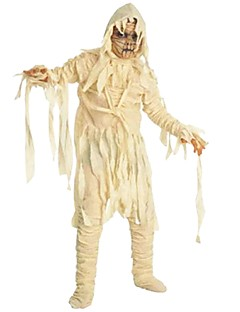 billige Halloweenkostymer-Zombie Kostume Gutt Barn Skummelt Halloween Halloween Karneval Maskerade Festival / høytid Drakter Beige Ensfarget Halloween