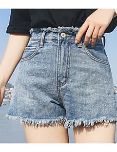 billige Kvinde Underdele-Dame Bomuld Tynd Jeans Bukser Ensfarvet