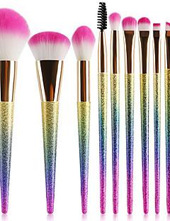 baratos -Conjunto - 10 Pincéis de maquiagem Profissional Conjuntos de pincel Fibra de Nailom Amiga-do-Ambiente / Macio Plástico