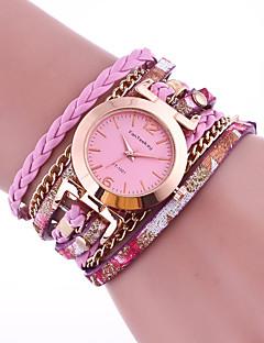 billige Armbåndsure-Dame Armbåndsur Quartz Afslappet Ur PU Bånd Analog Mode Sort / Hvid / Blåt - Blå Lys pink Gyldent