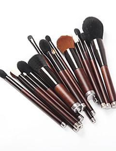 Χαμηλού Κόστους μακιγιάζ βούρτσα σύνολα-19 τεμάχια μύτες Μακιγιάζ Βούρτσες Επαγγελματίας Φροντίδα Δέρματος Μαλλί / Ίνα Πλήρης Κάλυψη Ξύλινο / Μπαμπού