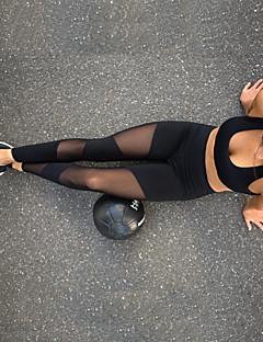 billiga Träning-, jogging- och yogakläder-Dam Genomskinlig Yoga byxor - Svart sporter Klassisk Elastan, Mesh Cykling Tights / Leggings Dans, Löpning, Fitness Sportkläder Andningsfunktion, Mjuk, Svettavvisande Elastisk