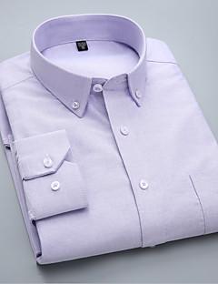billige Herremote og klær-Skjorte Herre - Ensfarget Forretning / Grunnleggende