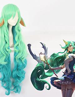 billiga Anime/Cosplay-peruker-Cosplay Peruker Cosplay Cosplay Grön Animé Cosplay-peruker 44 tum Värmebeständigt Fiber Alla halloween Peruker