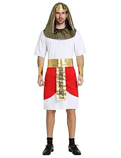 billige Halloweenkostymer-Egyptiske Kostymer / Cleopatra Drakter Herre Halloween / Karneval / Nytt År Festival / høytid Halloween-kostymer Hvit Ensfarget / Stripet / Halloween Det gamle Egypt / Halloween