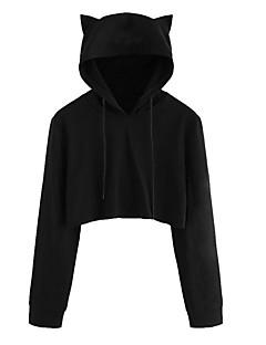 tanie Damskie bluzy z kapturem-Damskie Spodnie - Solidne kolory Czarny M / Wyjściowe