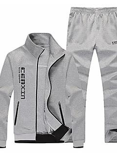 baratos Abrigos e Moletons Masculinos-Homens Básico activewear Set Letra