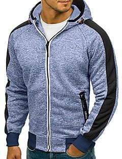 baratos Abrigos e Moletons Masculinos-Homens Básico Moletom / Jacket Hoodie Sólido