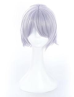 billiga Anime/Cosplay-peruker-Cosplay Peruker Fate / zero Jack Silver Animé Cosplay-peruker 20 tum Värmebeständigt Fiber Unisex halloween Peruker