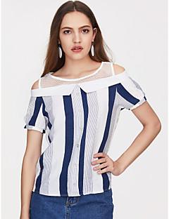 billige Overdele til damer-Dame - Ensfarvet Kvast Vintage T-shirt Kran
