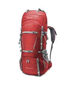 billiga Ryggsäckar och väskor-70+10 L Ryggsäck - Regnsäker, Bärbar, Mateial som andas Utomhus Camping, Utför, Snowboardåkning 100g / m2 Polyester Stretch Grå, Marinblå, Vinröd