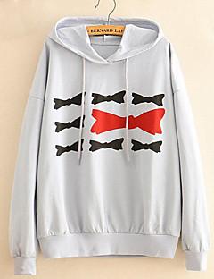 tanie Damskie bluzy z kapturem-Damskie Rozmiar plus Wyjściowe Długi Bluza z Kapturem - Rysunek