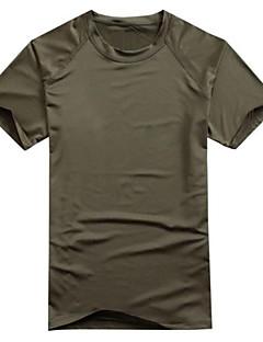tanie Koszulki turystyczne-Męskie T-shirt turystyczny Na wolnym powietrzu Wiosna / Lato Szybkie wysychanie, Oddychalność, Odporny na UV T-shirt Piesze wycieczki, Casual, Ćwiczenia na zewnątrz Czarny Zieleń wojskowa