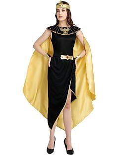 billige Voksenkostymer-Egyptiske Kostymer Kostume Dame Halloween / Karneval / Barnas Dag Festival / høytid Halloween-kostymer Svart Ensfarget / Halloween Halloween