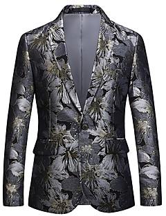 billige Herremote og klær-Jacquard Blazer-Blomstret Aktiv Gatemote Herre