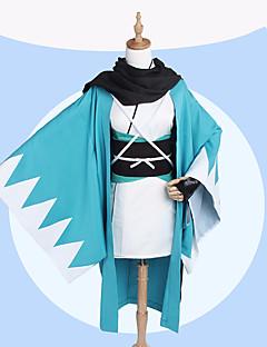 """billige Anime Kostymer-Inspirert av Fate / zero Okita Souji Anime  """"Cosplay-kostymer"""" Cosplay Klær Mønstret Frakk / Ermer / Sokker Til Dame Halloween-kostymer"""