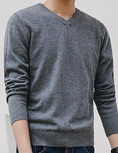 tanie Miesten hupparit ja collegepuserot-męska bluza z długim rękawem slim - jednolity kolorowy dekolt