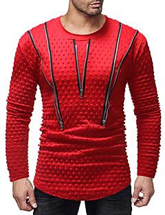 billige Herrers Mode Beklædning-Herre - Ensfarvet Patchwork Basale T-shirt