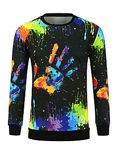 billige Herremote og klær-T-skjorte Herre - Regnbue, Trykt mønster Aktiv / Punk & Gotisk