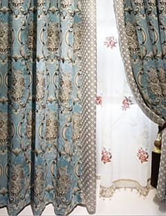 billige Gjennomsiktige gardiner-Gardiner Skygge Stue Moderne Bomull / Polyester Broderi
