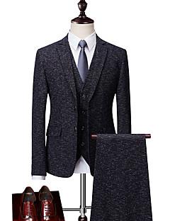 billige Herremote og klær-Store størrelser Spissjakkeslag drakter-Trykt mønster Herre / Langermet