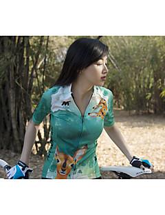 billige Sykkelklær-Mysenlan Dame Kortermet Sykkeljersey med shorts Sykkel Klessett, 3D Pute, Fort Tørring, Pustende Polyester, Spandex Rådyr