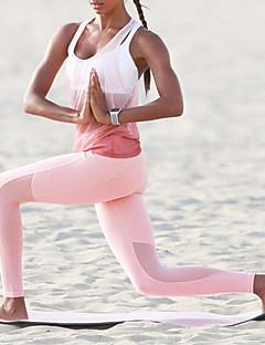 billige Trening, fitness og yoga-Dame Sexy / See Through Yoga Suit - Rosa sport Helfarge SportsBH-er / Leggings Yoga & Danse Sko, Løp, Treningssenter Sportsklær Fort Tørring, Bekvem, Butt Lift Mikroelastisk