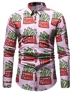 billige Herremote og klær-Skjorte Herre - Geometrisk, Trykt mønster Grunnleggende